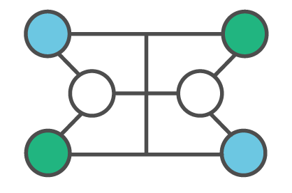 Network of circles joined
