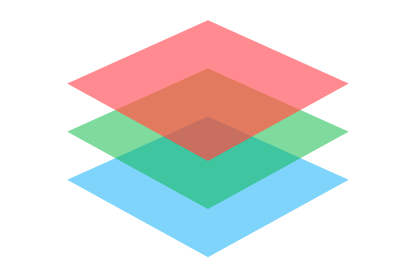 Sensor Icon of red, green and blue squares on top of each other