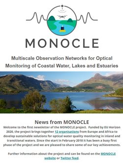 Screenshot of the first MONOCLE Newsletter